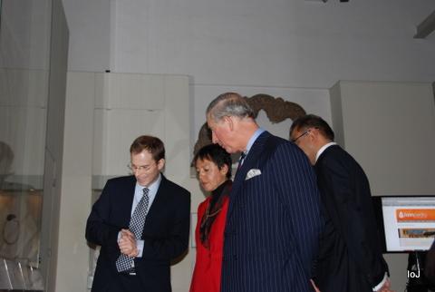 Nicholas Bernard & Prof Nalini Balbir Showing the Exhibits